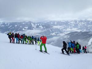 groepsreiis wintersport Zell am See. Scholieren
